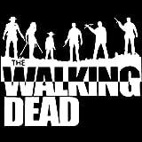 A/X Sticker de Carro 19,1 cm * 14,9 cm Moda Zombies Fight The Dead Fear The Living The Walking Dead calcomanías para Coche Vinilo S8-1076Plata