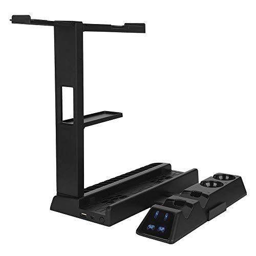 Topiky spelconsole-greep laadstation ventilator basis voor Playstation 4, speelkaarthouder houder standaard draadloze handgreeplader voor Sony PS4/slim/Pro/PS VR
