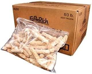 Farm Rich Breaded Fried Mozzarella Cheese Sticks, 3 Pound -- 8 per case.