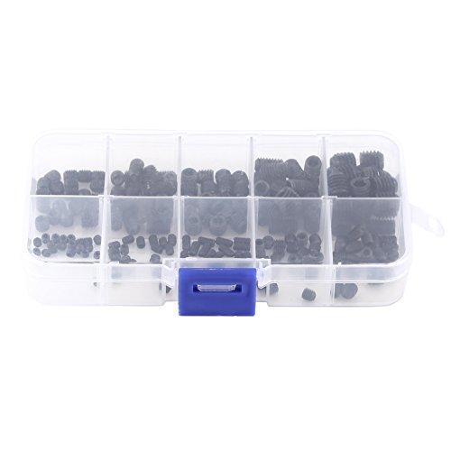 Stelschroef, koppuntschroef, 200 stuks inbuskop Grub stelschroef Koppuntassortimentsset met doos