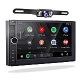 Autoradio 2 din con Carplay Android Auto, 2G/32G Impianto Stereo Auto 2din Android 10.0 Radio Bluetooth Auto Doppio Din con Schermo 7 Pollici e Telecamera Posteriore Navigatore GPS,USB,Vivavoce,WiFi