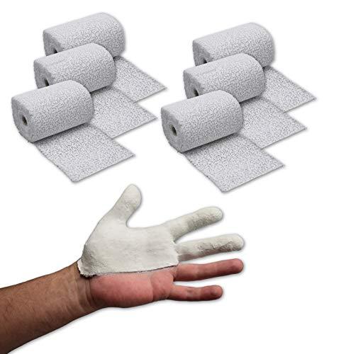 6x Gipsbinden je 8 cm x 300 cm (18 Meter /1,44m²) Gipsbinde für Babybauch/Modellbau/modellieren/Gesichtsabdruck/Gipsmasken/medizinische Zwecke u. v. m. – im ConsuMed Bundle