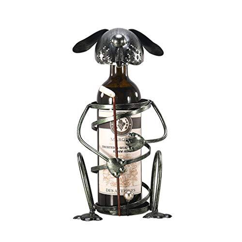 Botelleros Botellero vino Estante del perrito de Golf Vino Vino flamenco sostenedor del vino estante de metal animal Figurita de vino soportes for botellas de vino creativo soporte Oficina Decoración