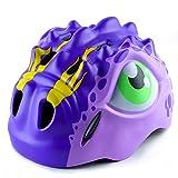Apusale Kids Bike Helmets Dinosaur Helmet Adjustable Toddler Helmet for Girls Boys Multi Sports