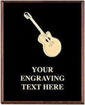 Crown Awards Guitar Plaques, Custom Engraved Guitar Player Music Trophy Plaque Award, Great Customizable Music Prizes Prime