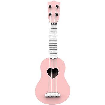 NUOBESTY Niños Ukelele Guitarra pequeña 4 Cuerdas Instrumento ...