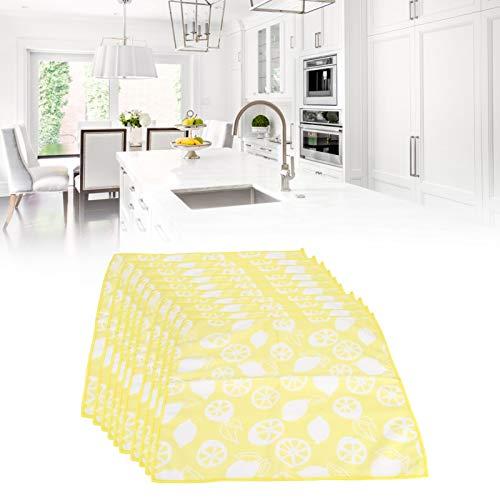 Jopwkuin Toalla Absorbente, 10PCS Toalla de Microfibra con patrón de Frutas para baño para Regalo de inauguración de la casa