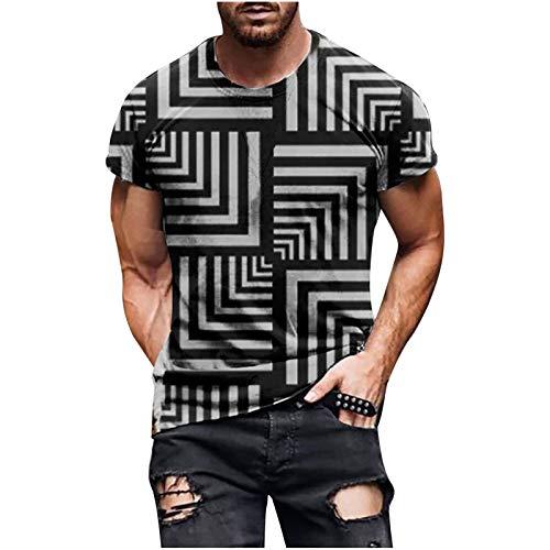 MINYING Tee Shirt Homme Manche Court Col Rond Imprimé Homme T Shirt Vintage Blouse Sport Tendance Streetwear Printemps et été 2021 Bebe Adultes Mère Pères Grand-Mère Garçons Filles