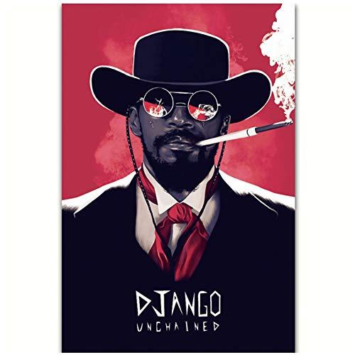 Quentin Tarantino Django Unchained Classic Film Ölgemälde Poster Drucke Leinwand Wandbild Home Room Decor Einzigartiges Geschenk-50x75cm No Frame
