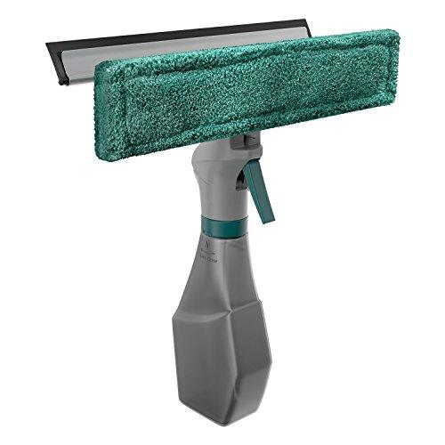 Limpa Vidros Spray, Rodinho e Limpeza, Reservatório 230 ml, Verde, Flash Limp