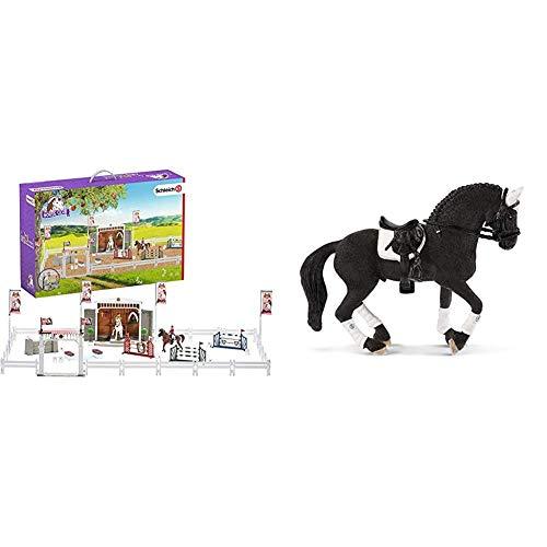 Schleich 42338 Horse Club Spielset - Großes Reitturnier mit Pferden, Spielzeug ab 5 Jahren & 42457 - Friese...
