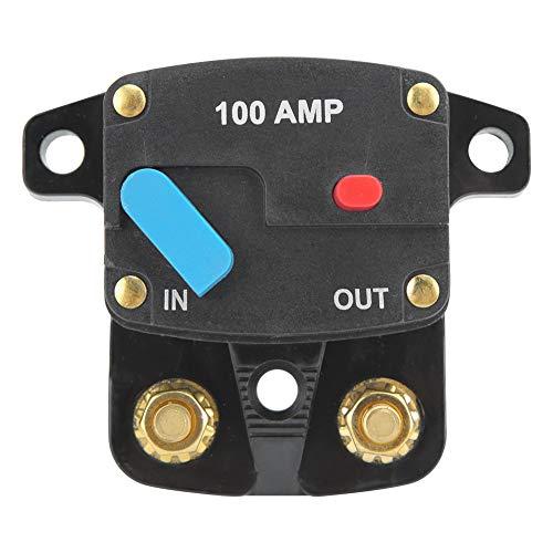 Nicoone Disyuntor 12V 100A Disyuntor Fusible Manual Rearmable para La Protección de Audio Y Vídeo del Coche