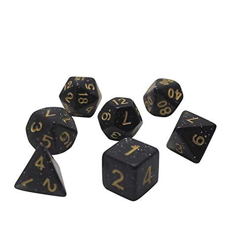 Fijnere 7 stks/partij dobbelstenen set D4, D6, D8, D10, D10, D12, D20 Kleurrijke accessoires voor bordspel, 07