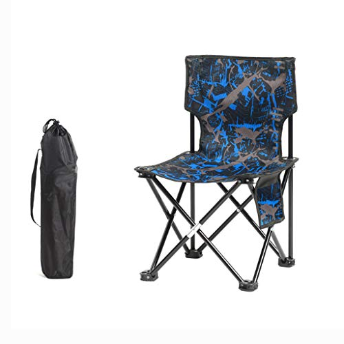 PLL stoel buiten klapstoel draagbare camping strand vissen stoel kruk klapstoel camouflage blauw