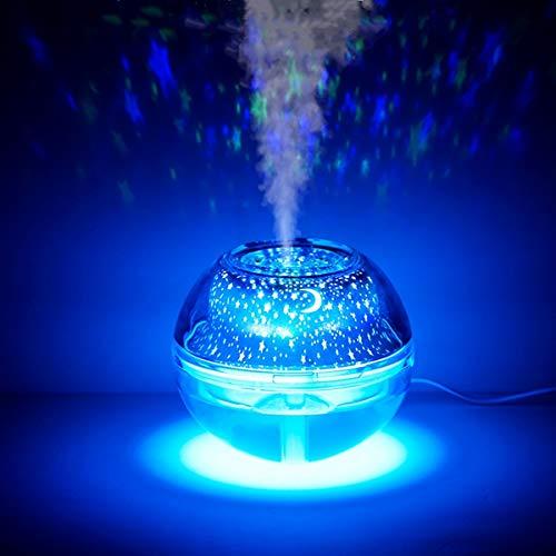加湿器 卓上 超音波式 超静音 大容量 500ml 空気浄化機 ミニ加湿器 卓上加湿器 車載加湿器 小型加湿器 7色LEDライト オフィス 子供部屋 花粉対策に 乾燥防止 空焚き防止 小型 持ち運び便利