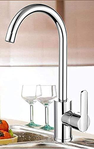Grifo de cocina Todos los lavabos de cobre para el fregadero de la vanidad de la cocina Baño Grifo anti-salpicaduras de agua fría y caliente