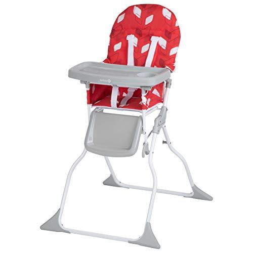 Safety 1st Chaise Haute pour bébé Keeny Compacte et Pliable, Nettoyage Facile Red Campus