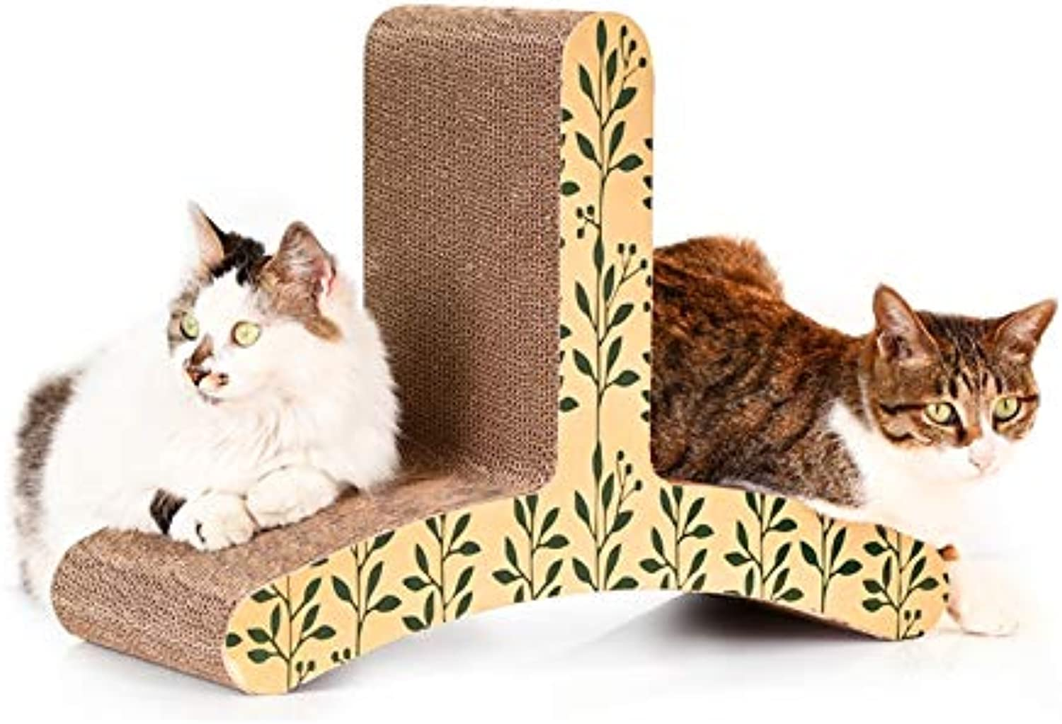 Cat Bed or Sofa hyx CP-085 T-Shaped Cat Climber Corrugated Paper Cat Scratch Board Grinding Claw Toy