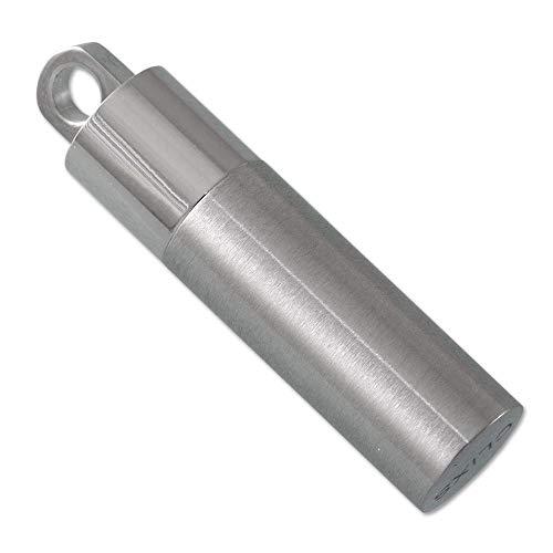 CLIXS® Kettenanhänger Rettungskapsel • Edelstahl matt & glänzend • SOS-Kapsel