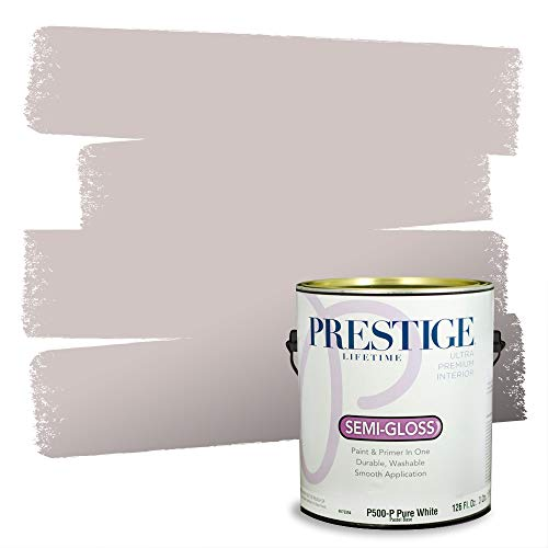 Prestige Paints Interior Paint and Primer In One, 1-Gallon, Semi-Gloss, Comparable Match of Sherwin Williams* Vaguely Mauve*