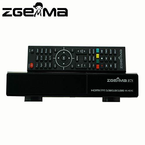 ZGEMMA H7S con 2 x DVB-S2X + DVB-T2/C E2 Linux OS 4K UHD receptor de satélite compatible con CI HDD Kodi