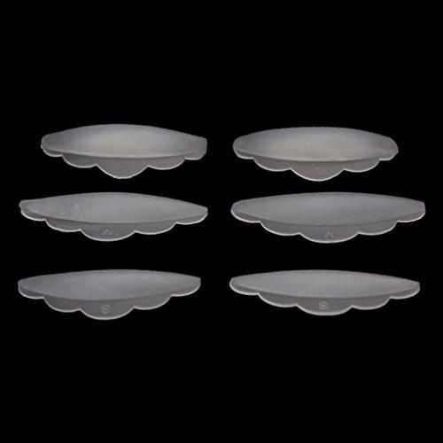 Keahup 6 pièces Cils Lift Lifting Bigoudi Curl Silicone Eye Lash Extension Boucliers Pads