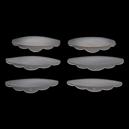 SANYUELI 6 pcs Cils Lift Lifting Curlers Curl Curl Silicone Eye Lash Extension Shields Pads