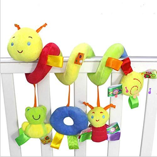BROADREAM Espiral Cochecito Espiral de actividad con cochecito, cochecito o cuna colgando juguetes (Insecto)
