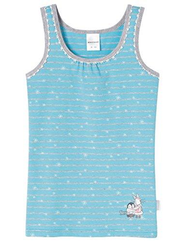 Schiesser Mädchen Hemd 0/0 Unterhemd, Blau (türkis 807), 104
