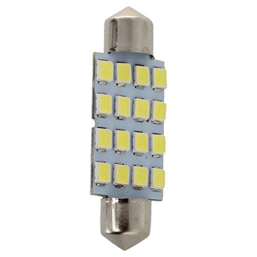 tellaLuna 10x 42mm 16 LED coche interior blanco SMD 3528 bóveda lámpara bombilla 211-2 578 212-2