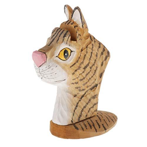 H HILABEE Expositor de Exhibición de Madera con Forma de Animal para Exhibición de Tienda, Adornos para el Hogar y Almacenamiento Personal - Marrón, Cat