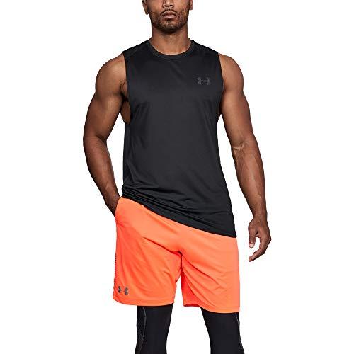 Under Armour Herren Leichtes und Atmungsaktives Tanktop für Fitness und Sport, bequemes Trainingsshirt Mit Anti-Odor Technologie und 4-Way-Stretch MK-1 Sl, Black/Stealth Gray (001), M, 1306433-001