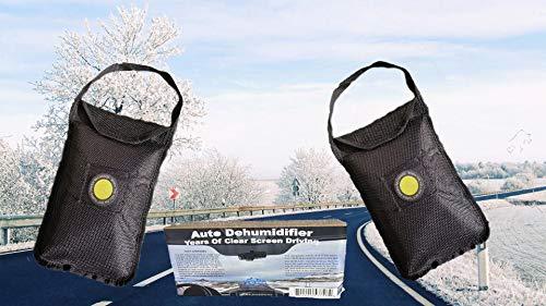 Seal Products ltd 2x großer Luftentfeuchterbeutel, 1kg, für Auto/Zuhause, wiederverwendbar, nimmt Feuchtigkeit auf, rutschfestes Design