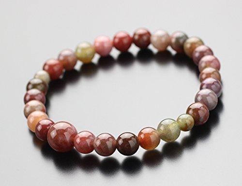 念珠ドットコム数珠ブレスレット約7ミリピンク印度瑪瑙腕輪念珠念誦天然石パワーストーンアゲート女性用レディース2000700102514