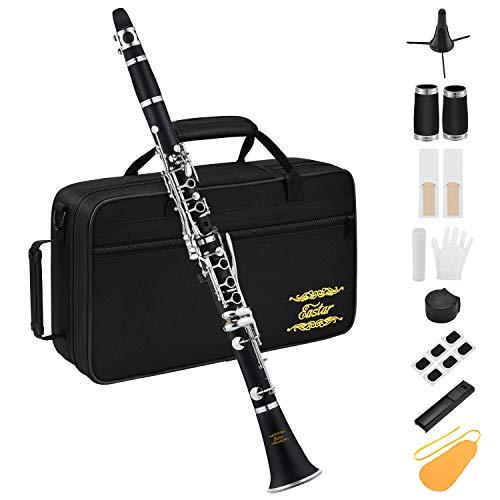 Eastar B Flat Clarinet Ebonite Student Clarinet Set 17 Key with Clarinet...