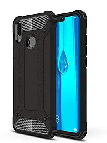 DAMONDY Huawei Y9 2019 Case, Huawei Enjoy 9 Plus Case, [Phantom Armor] 360 Degree Power Ful Slim Rugged Design Dual Layer Heavy Duty Hybrid Protection for Huawei Y9 2019-black