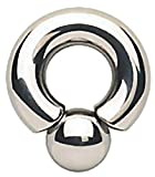 TheChainGang Monster Screwball Rings, Surgical Steel Prince Albert Jewelry for Stretched Piercing (00 Gauge (10 mm) - 7/8')