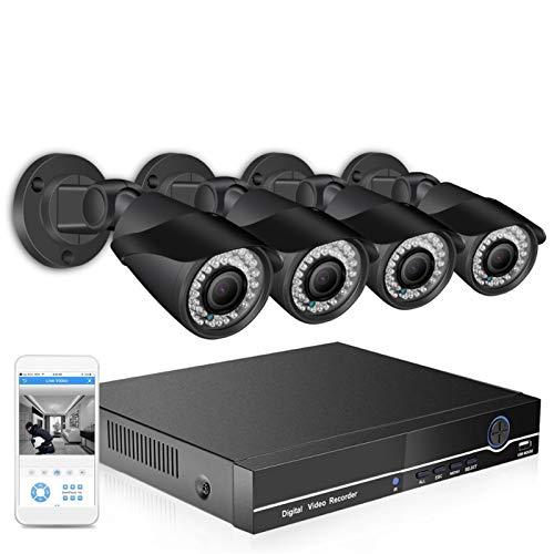 SCAYK BESET H.265 4MP Sistema de cámara de Seguridad 8ch PoE NVR Kit 2.8-12 mm Lente de Zoom motorizado CCTV Cámara IP P2P Conjunto de videovigilancia (Build-in HDD : 2T, Color : 2.0MP Kit)