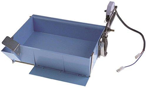 ITV Bac pour sorbetière Quasar-40CA, Quasar-40CW pour sorbetière Q40 - Largeur : 170 mm - Bleu - Hauteur : 90 mm - Longueur : 234 mm