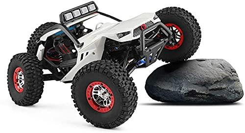 ADSVMEL RC Alloy Off Road Desert Bigfoot Coche de control remoto 2.4 GHZ Coche RC Niños Vehículo de carreras rápido Camión Juguete eléctrico para pasatiempos con baterías recargables Juguetes para niñ