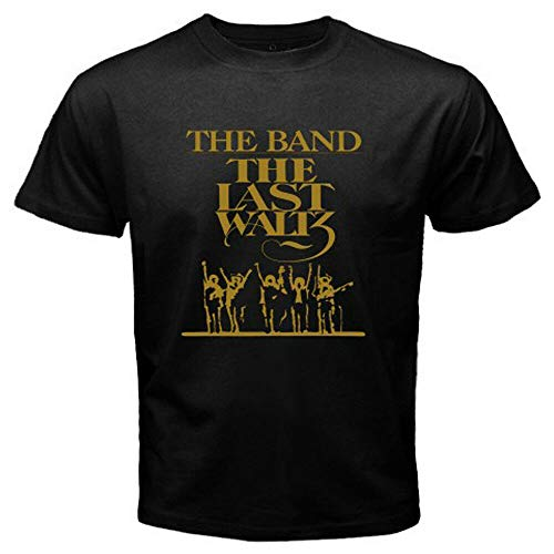 XIANGCHENG New The Band The Last Waltz Winter Album Cover Men's Black T-Shirt Size S-3XL Black L