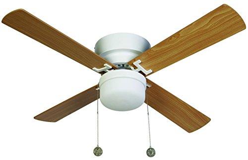 Lucci air Nordic Deckenventilator Licht und Kettenzug, Wechselflüger Weiß/Buche, 105 cm Durchmesser