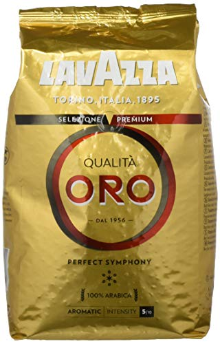 Lavazza Kaffeebohnen - Qualita Oro - 4er Pack (4 x 1 kg)