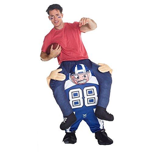 Morph MCPBAF Huckepack Kostüm Costumes, Fußballspieler, Einheitsgröße