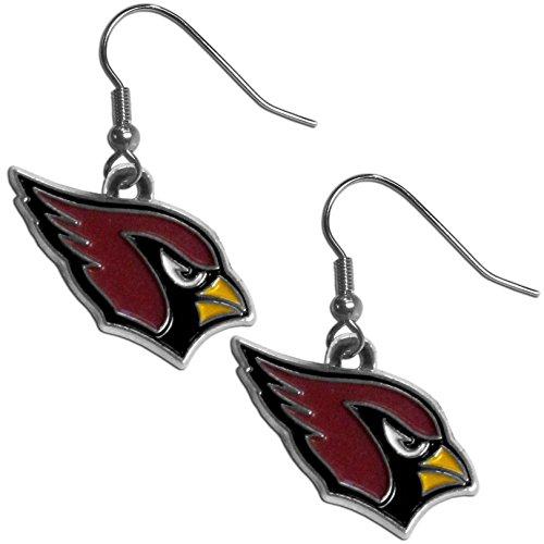 NFL Siskiyou Sports Damen-Ohrringe, Arizona Cardinals, Chrom, Einheitsgröße, Teamfarben