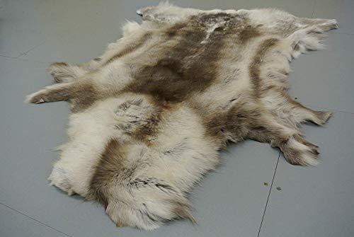 Fine reno (rangifer tarandus) suave alta calidad piel de curtido Fluffy Fur ocultar alfombra taxidermia Coleccionable de caza con chimenea.