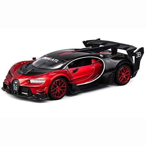 1:24 para Bugatti Diecast Modelo De Automóviles 20 Cm De Longitud Cuerpo De Aleación 2 Puertas Carrito Abierto Ruedas Detalle Delicado (Color : Red, Size : No Box)