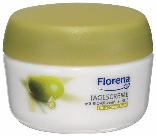 Florena Tagescreme mit Bio Olivenöl für trockene Haut, 1er Pack (1 x 50 ml)