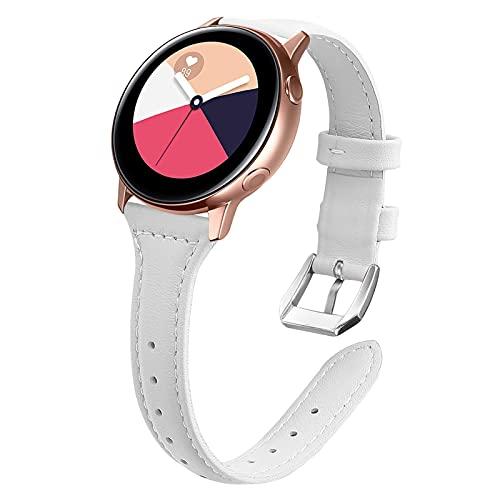 """Galaxy Watch 42mm Correa, MVRYCE 5.5""""-8.1"""" Reemplazo de Correa de Cuero Genuino Correa de 20mm Compatible con Samsung Galaxy Galaxy Watch 3 41mm /Activo 40mm /Activo2 40mm 44mm /Gear S2 (A01)"""
