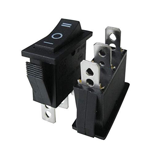 Taiss Kippschalter, 3-polig, 3 Positionen, KCD3, Mini-Kippschalter für Auto, Boot, 250V Wechselstrom, 125V/20A, schwarz, 8 Stück, XW-604BB3